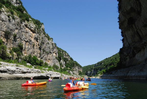 Canoe trip in the Ardèche River Gorges
