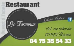 Restaurant Le Terminus in Ruoms